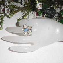 Bague originale en argent 925 avec étoile en cristal de Swarovski