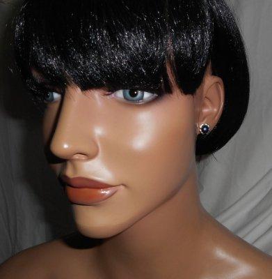 Boucles d'oreilles argent 925 avec perle de culture noire