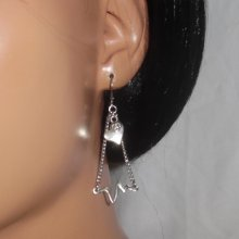 Boucles d'oreilles motif électrocardiogramme