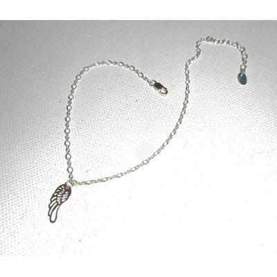 Bracelet/chaine de cheville avec aile sur chaine argent 925