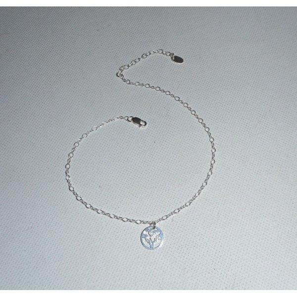 Bracelet/chaine de cheville avec médaille arbre de vie sur chaine argent 925