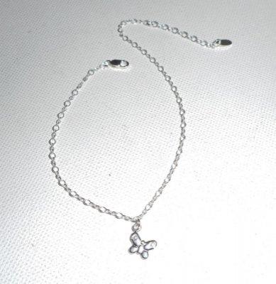 Bracelet/chaine de cheville avec papillon sur chaine argent 925