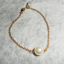 Bracelet  perle de culture sur chaine plaqué or