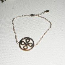 Bracelet en argent 925 avec motif noeud en nacre