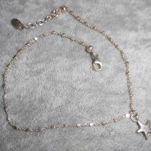 Bracelet/chaine de cheville avec étoile de mer sur chaine argent 925