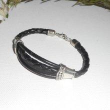Bracelet original pour homme en cuir