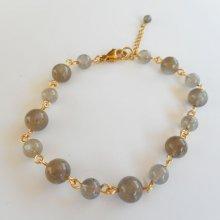 Bracelet en pierres de labradorite