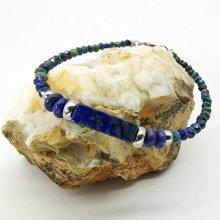 Bracelet fin en pierres de Lapis Lazuli