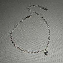 Bracelet/chaine de cheville avec coeur sur chaine argent 925